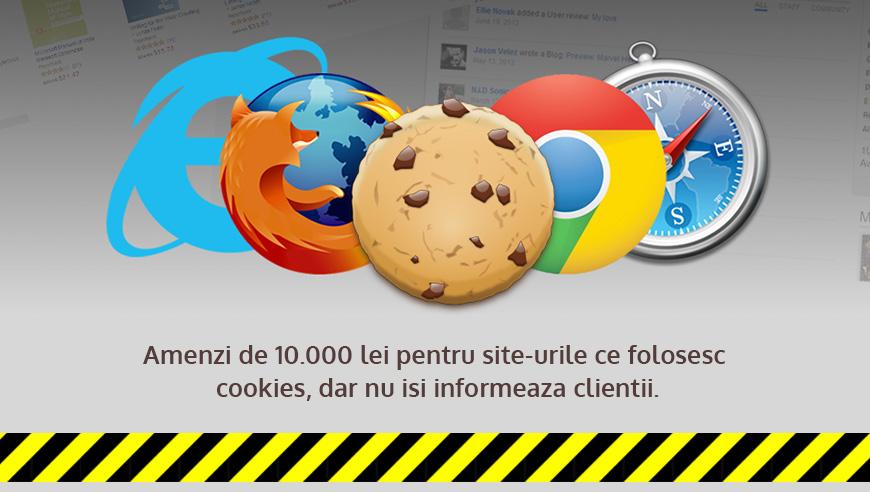 Amenzi usturatoare pentru site-urile ce folosesc cookies, dar nu isi informeaza clientii!