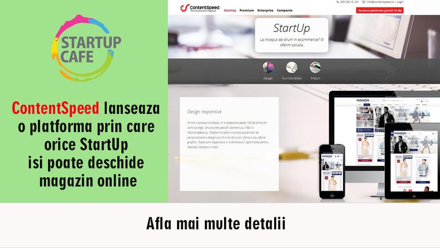 ContentSpeed lanseaza o platforma prin care orice startup isi poate deschide magazin online