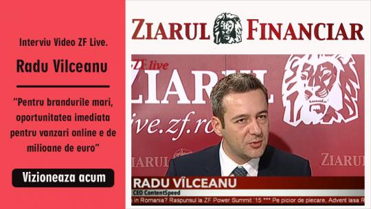 """Video ZF Live. Radu Vîlceanu, ContentSpeed: """"Pentru brandurile mari, oportunitatea imediată pentru vânzări online e de milioane de euro"""""""