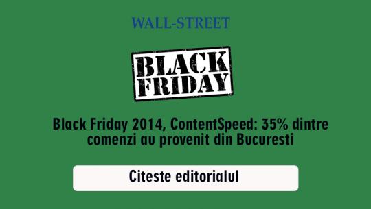 Black Friday, ContentSpeed: 35% dintre comenzi au provenit din Bucuresti