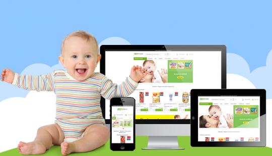 Noi teme de design pentru magazine online ce vand articole pentu copii