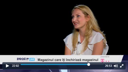 Magazinul care iti închiriaza magazinul. Interviu Doina Vîlceanu, manager ContentSpeed, la Profit LIVE